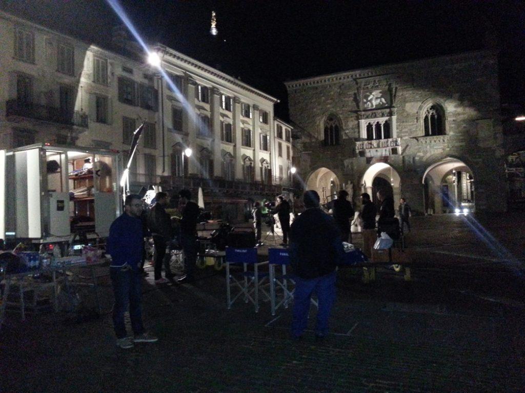 Colpo, riprese in Piazza Vecchia, Bergamo