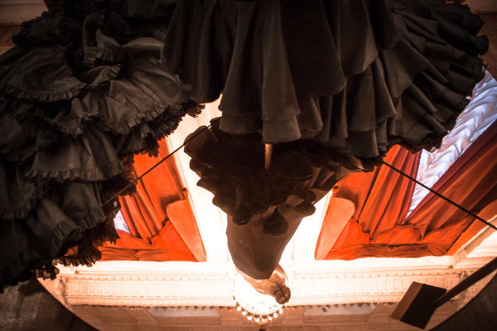 Giorgio Armani, Soul, 2000, Bata de cola (or flamenco dress) detail
